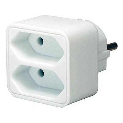 Brennenstuhl stekker-adapter: Adapter with 2 Euro sockets
