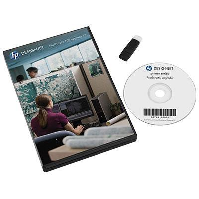 Hp software licentie: Designjet PostScript/PDF Upgrade Kit