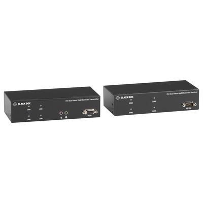 Black Box 1920 x 1200 @ 60 Hz, DVI, USB, RJ-45, DB9, 5V DC - Zwart
