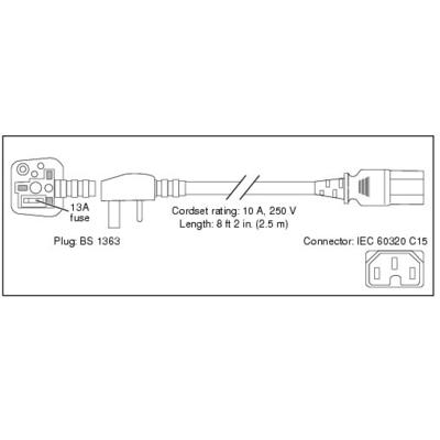 Cisco 7500 SERIES AC POWERCORD UK Electriciteitssnoer