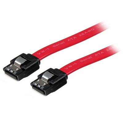 StarTech.com 45 cm Vergrendelbare SATA-kabel ATA kabel - Rood