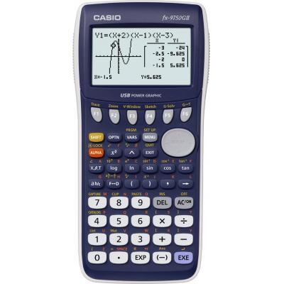 Casio 64x128, 8 Righe, 4x AAA, 61KB Flash, MCD/MCM, 205g Calculator - Blauw