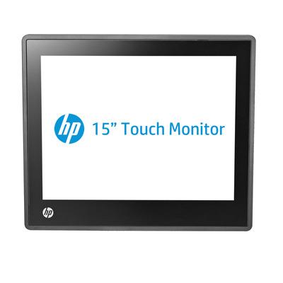 Hp touchscreen monitor: L6015tm 15-inch retail touch-monitor - Zwart