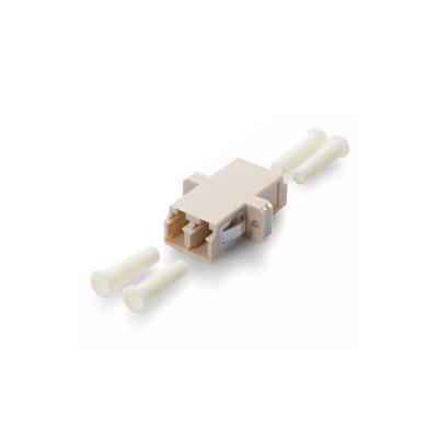 Equip LC OM3 Fiber optic adapter - Beige