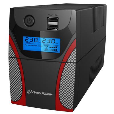 PowerWalker VI 850 GX IEC UPS - Zwart