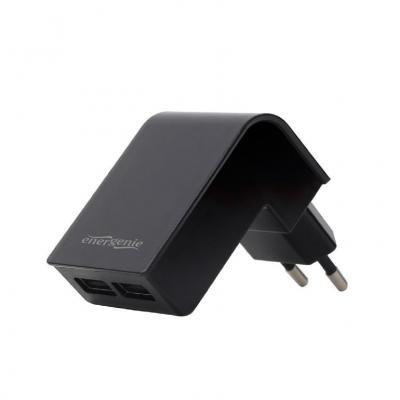 Gembird 2-port universal USB charger, 2.1 A Oplader - Zwart