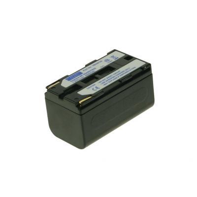 2-power batterij: Camcorder battery, 3700 mAh, 7.2 V - Zwart