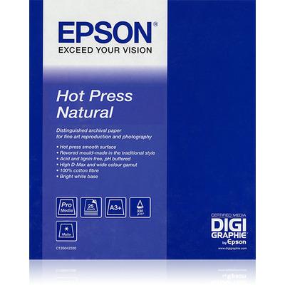 "Epson grootformaat media: Hot Press Natural 60""x 15m"