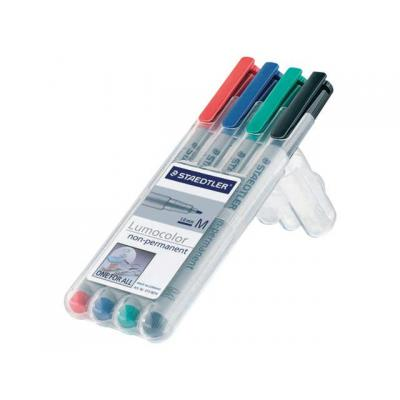 Lumocolor markeerstift: OHP/CD/DVDmarker Lc315 M ass/etui 4