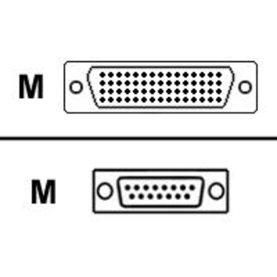Cisco X.21 CABLE DTE MALE 10 FT Netwerkkabel