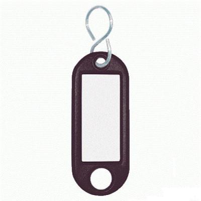 Wedo sleutehanger: Sleutellabel Zwart, S-Ring, ø 15 mm (verpakking 10 stuks)