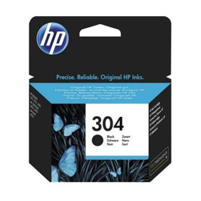 Hp inktcartridge: 304 Black Original Standard Capacity Ink Cartridge - Zwart