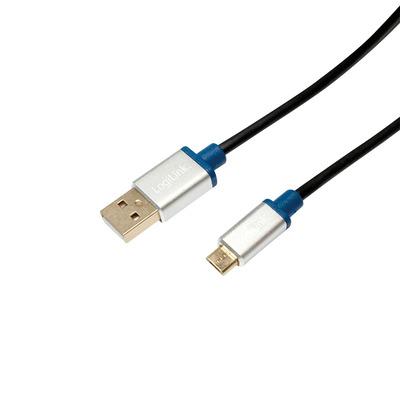 LogiLink 2m, USB2.0-A/USB2.0 Micro-B USB kabel - Zwart