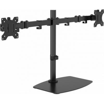 Vision multimedia kar & stand: VFM-DSDB Monitor Desk Stand 100×100 Dual - Zwart