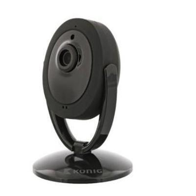 König HD IP-Camera Binnen, 1280x720, Zwart Beveiligingscamera