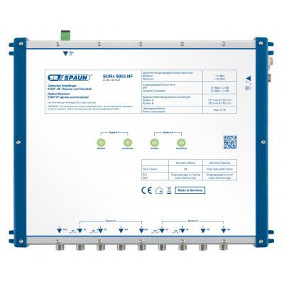 Spaun SORx 9903 NF Signaalomvormer - Blauw, Zilver
