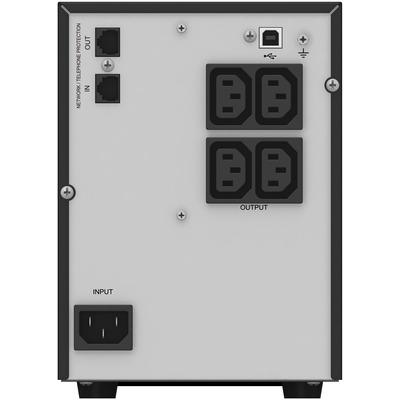 PowerWalker VI 750T/HID 750VA/500W UPS - Zwart