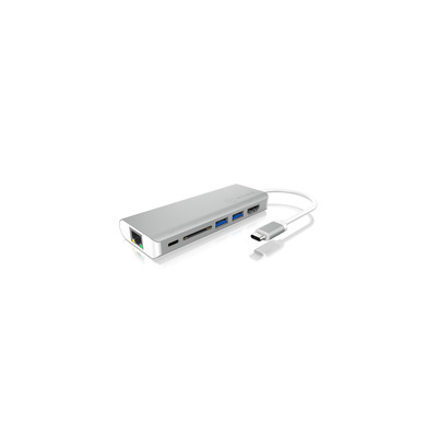 ICY BOX IB-DK4034-CPD Docking station - Zilver, Wit
