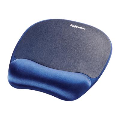 Fellowes Traagschuim (memory foam)/polssteun saffier Muismat - Blauw