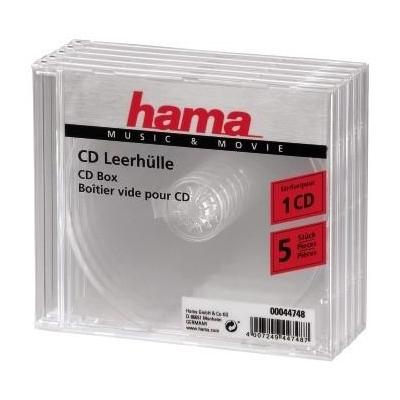 Hama : CD/CD-ROM sleeves, clear, 5 pack - Transparant