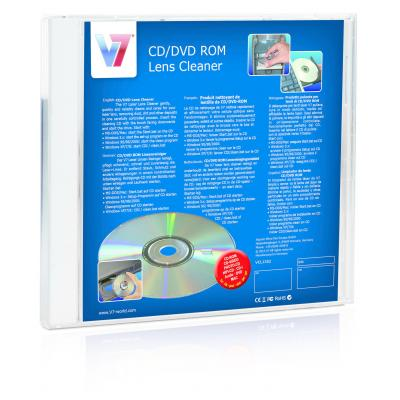 V7 reinigingstape: CD/DVD ROM Lens Cleaner