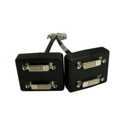 PNY VHDCI - Quad DVI-D Single Link - Zwart,Grijs