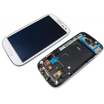 Samsung mobile phone spare part: GT-i9500 Galaxy S4, display, touchscreen, white