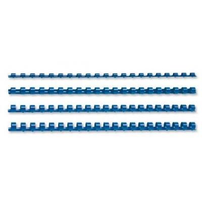 5star inbinder: Binding Combs Plastic 21 Ring 25 Sheets, A4, 6mm, Blue, Pack of 100 - Blauw