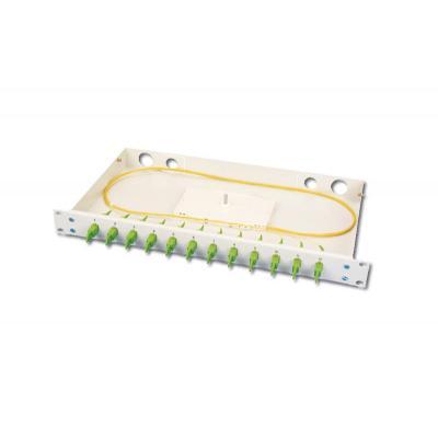 Digitus fiber optic adapter: Fiber Optic Sliding Splice Box 1U, Equipped 12 X E2000 simplex. PG 16 Screw, Splice .....