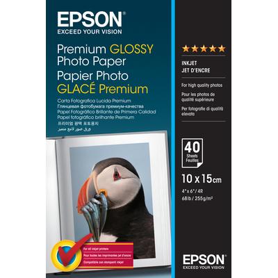 Epson Premium Glossy Photo Paper - 10x15cm - 40 Vellen Fotopapier - Wit