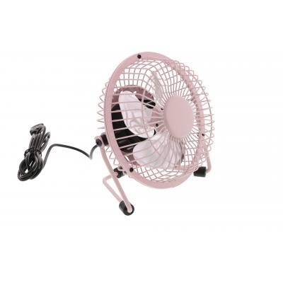 Hq ventilator: 2.5W, USB, 360°, Metal, 1m - Roze
