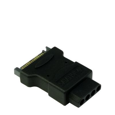 Inter-Tech SATA/Molex Kabel adapter - Zwart