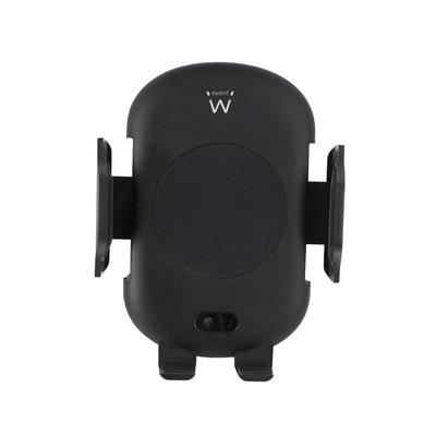 Ewent Automatische Smartphone holder voor in de auto met draadloze snellaadfunctie Houder - Zwart