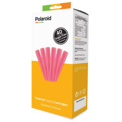 Polaroid Candy Cartridge f / CandyPlay 3D Pen, Strawberry flavour - Roze
