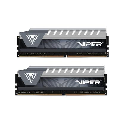 Patriot Memory Viper Elite Series 16GB DDR4 2666MHz Dual Kit RAM-geheugen - Zwart, Grijs