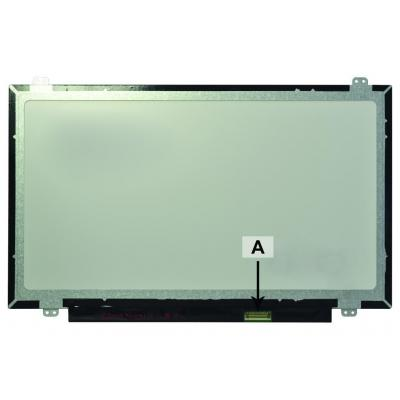 2-power notebook reserve-onderdeel: 14.0 1366x768 WXGA HD LED Matte Screen - replaces 0C8WJ - Multi kleuren