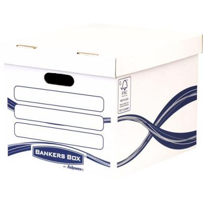 Fellowes : Basic Standard Storage Box - Blauw, Wit
