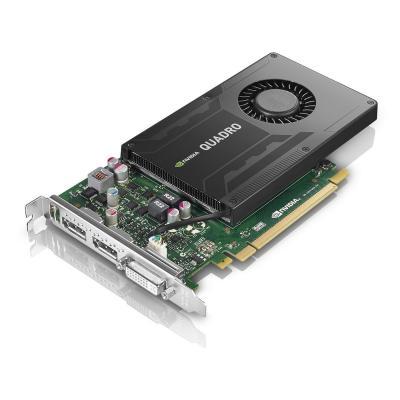 Lenovo videokaart: NVIDIA Quadro K2200, 4 GB GDDR5, DVI-I, 2x DisplayPort, 240 g - Zwart