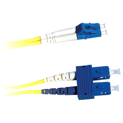 Lanview 2 x LC - 2 x SC Singlemode fibre cable, OS2, 9 / 125 µm, LSZH, Yellow, 2 m Fiber optic kabel - Geel