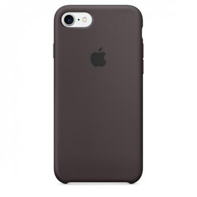 Apple mobile phone case: Siliconenhoesje voor iPhone 7 - Cacao - Bruin