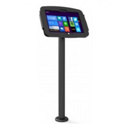 Compulocks : The Rise Surface Stand Kiosk - Surface Stand with Cable Management - Zwart