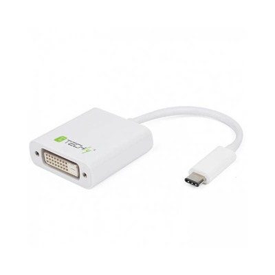 Techly IADAP USB31-DVI - Wit