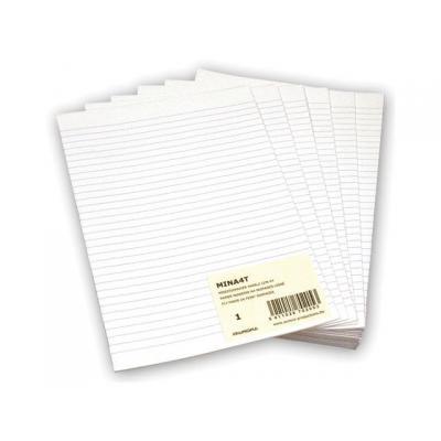 Aurora tekenpapier: Papier Minister dubbel A4 lijn/pak 240v