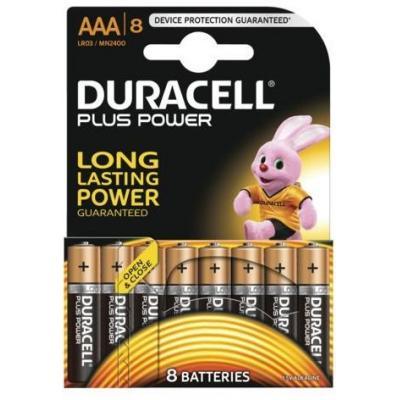 Duracell batterij: 8 x AAA, alkaline - Zwart, Goud