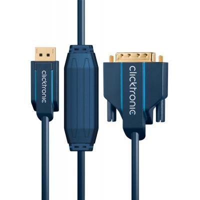 ClickTronic DisplayPort - DVI, 2 m - Blauw