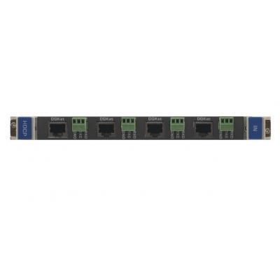 Kramer Electronics Kramer DGKat-IN4-F32 Input Card Digitale & analoge i/o module - Zwart