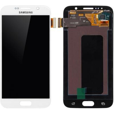 Microspareparts mobile mobile phone spare part: Samsung Galaxy S6 Series LCD Screen and Digitizer Assembly White - Wit