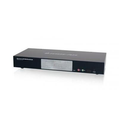 Iogear GCS1214TAA, USB, DVI KVM switch - Zwart