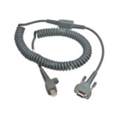 Intermec 12Ft RS232 9-Pin Seriele kabel - Zwart