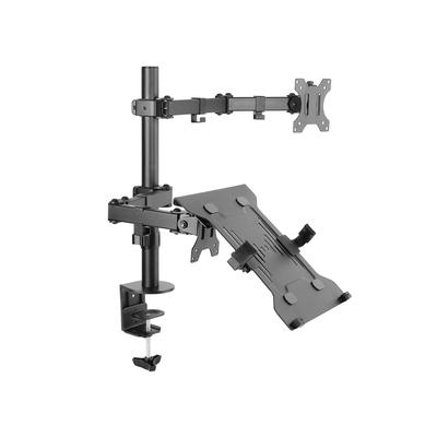 """Equip 13 - 32"""", 8 kg. 75x75/100x100 VESA Monitorarm - Zwart"""